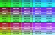Web Tarayıcı Html Renk kodları